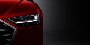 """Light sculpture"" - the headlight of the new Audi A8"